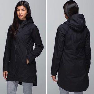 🖤Lululemon Right As Rain Jacket/Coat-Black, 8🖤